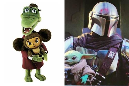 Baby Yoda Cheburashka friend protection