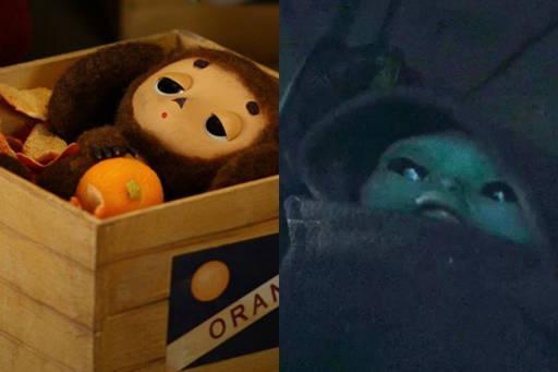 Baby Yoda Cheburashka in box