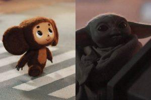 Baby Yoda Cheburashka uncannily similar